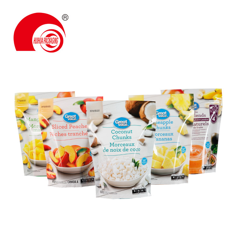 product-Huihua-Fruit Mix Peaches Coconut Pineapple Chunks Packaging Pouch PE Packaging Bag for Fruit