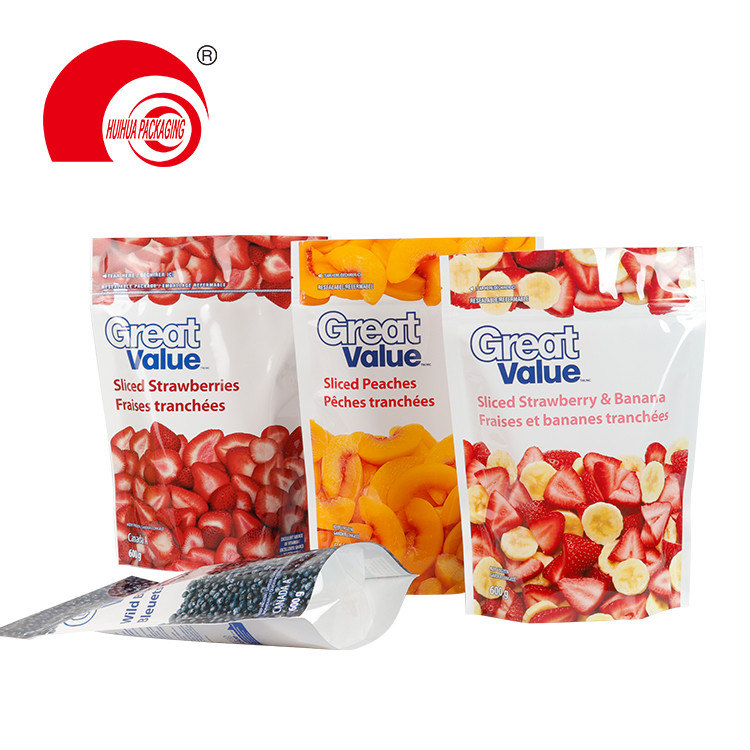 product-Huihua-Sliced Strawberries banana Peaches Wild Blueberries Packaging Pouch Fruit Packaging P