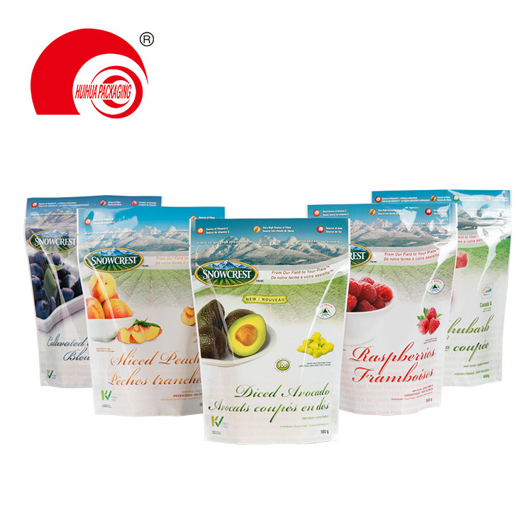 Heat Seal Plastic Packaging Bag Stand Up Fruit Avocado Packaging Pouch Doypack