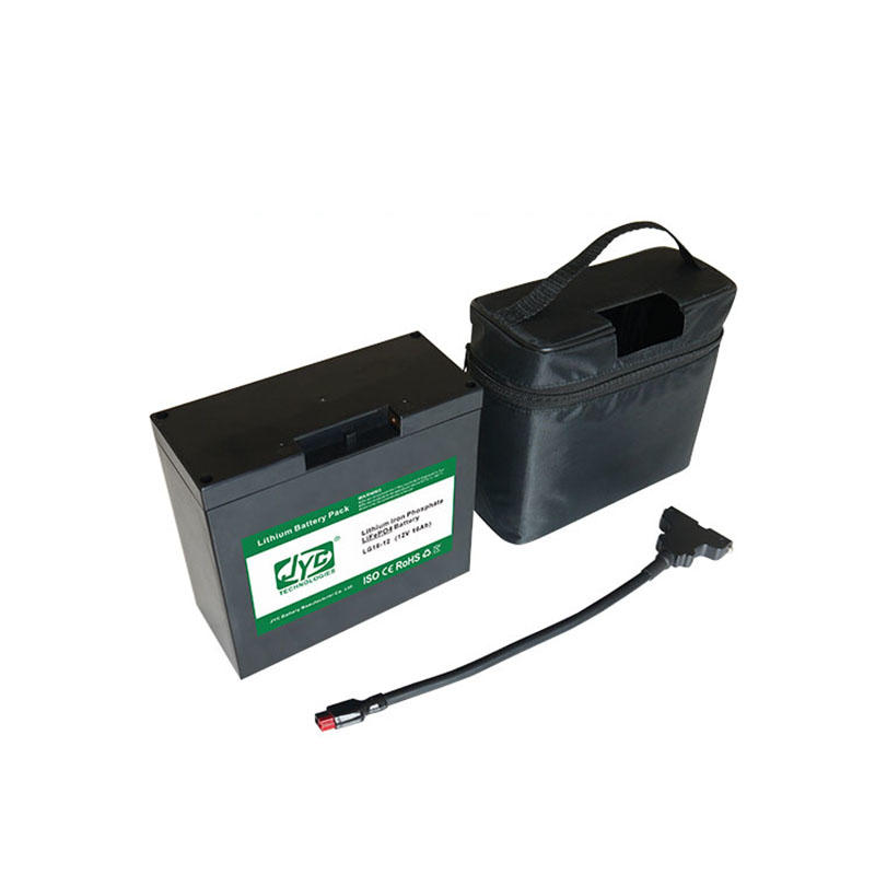 With T-bar Connector and Bag and Charger 12V 16ah Cycle Life>2000 Cycles for Lifepo4 Electric Golf Trolley Lithium Battery