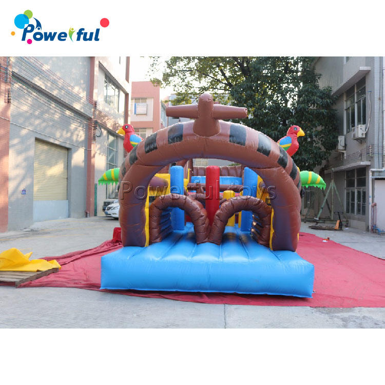 Inflatable Pirate Boat Pirate Obstacle CourseRentals Bounce House