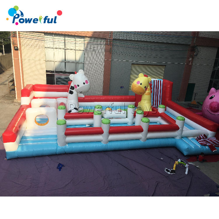 Kids indoor fun playground inflatable theme park for sale