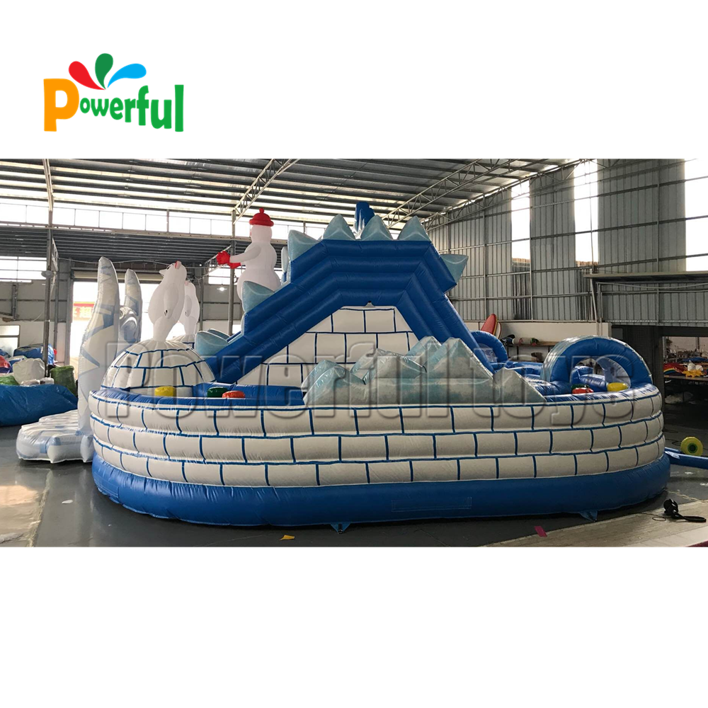 Best PVC inflatable obstacle course house inflatable bouncy slide for sale