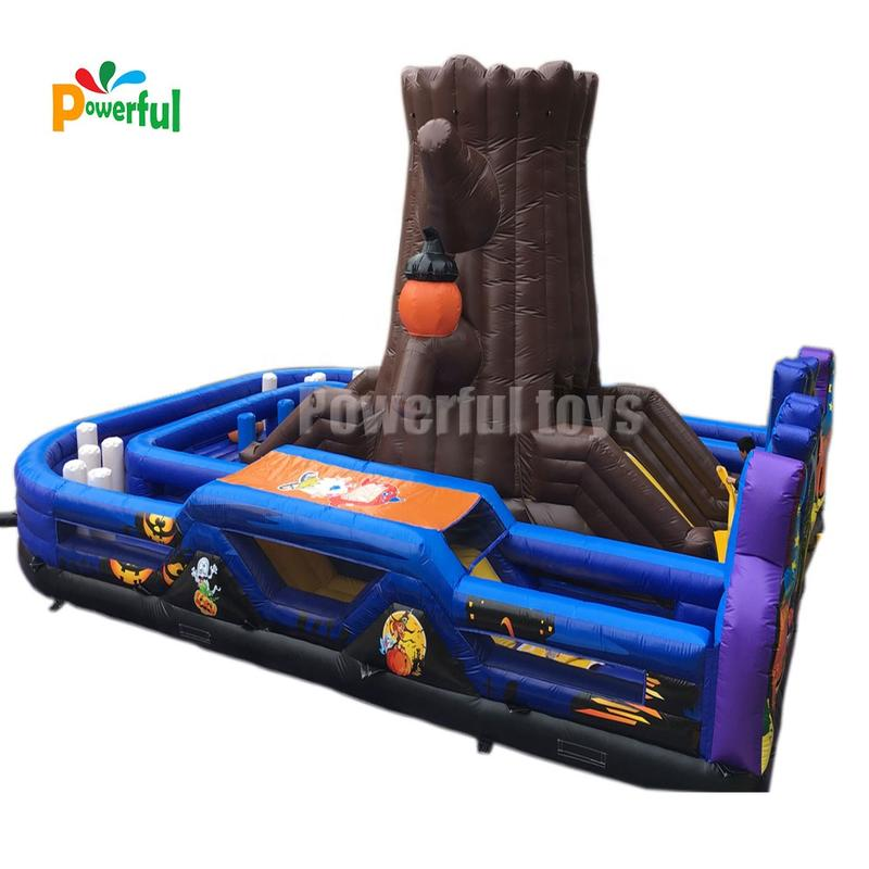 New arrival halloween theme inflatable fun city jumping bouncy house for amusement park