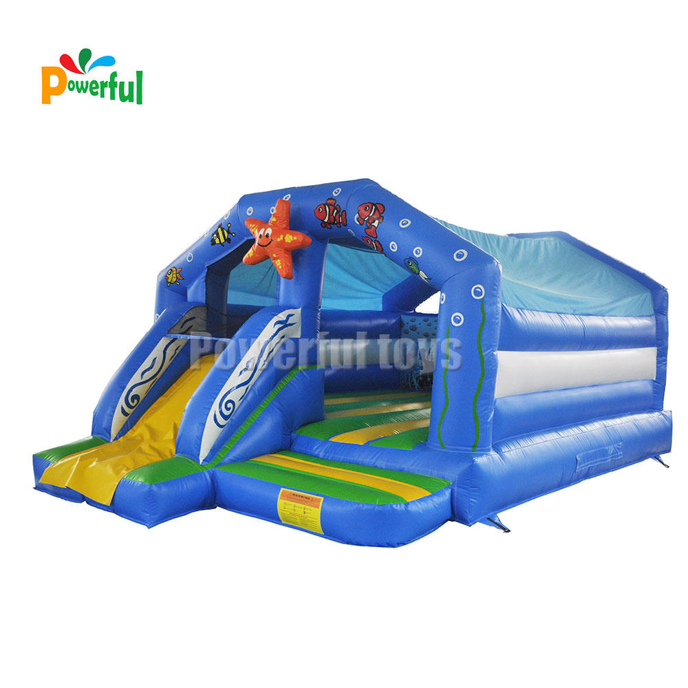 Funny small inflatable bouncy castle starfish jumping house for amusement park