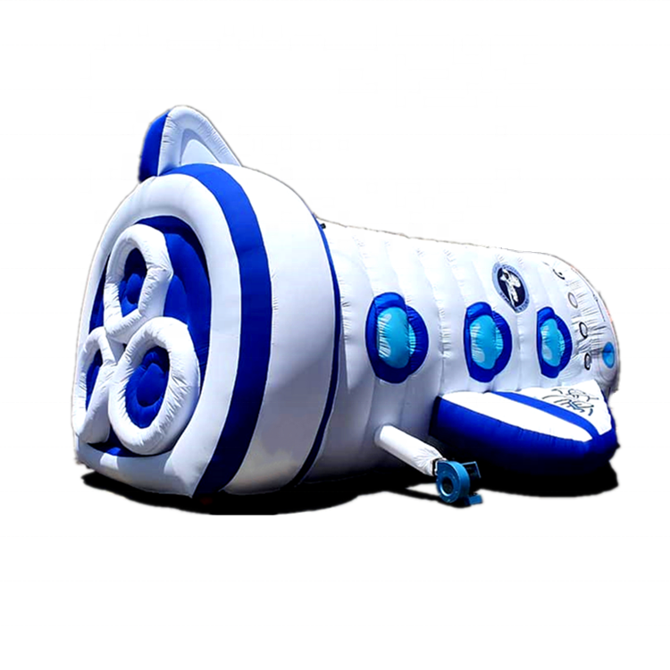 Hot design airship airplane inflatable obstacle course mini amusement park