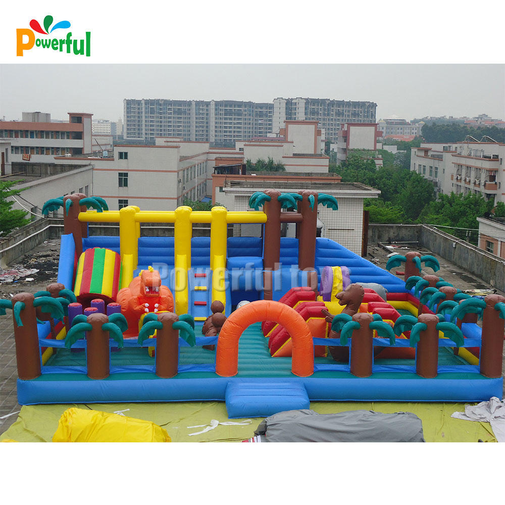 Outdoor playground inflatable fun city amusement park jumping castle