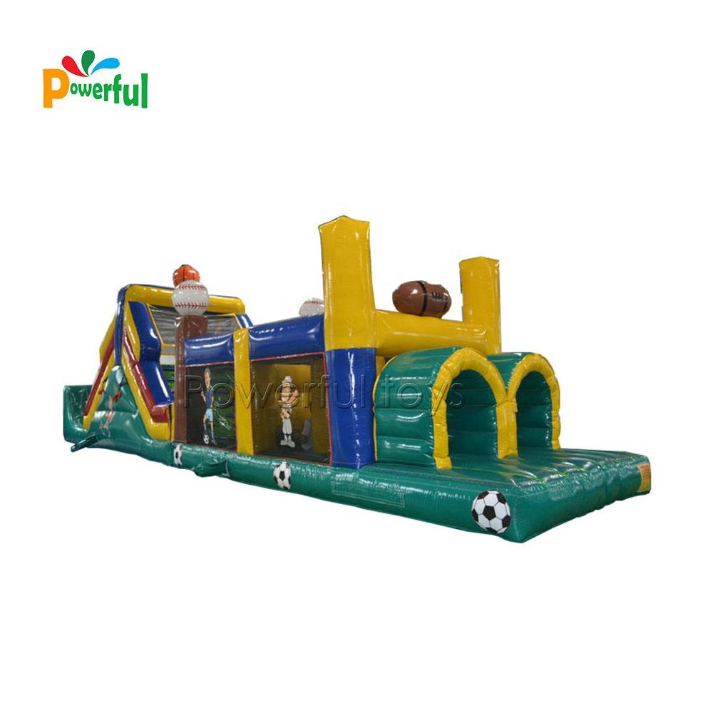 Crazy challenge PVC inflatable obstacle bouncy course