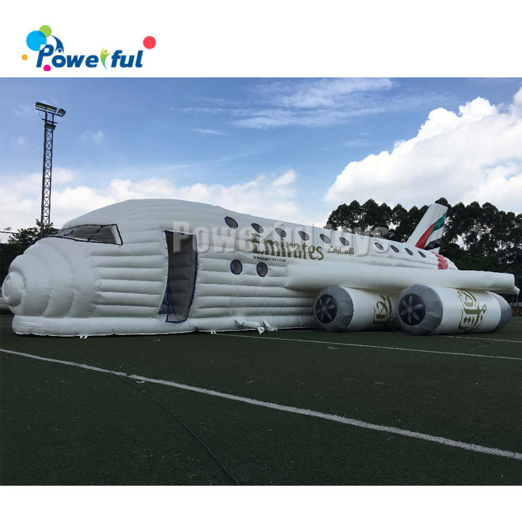 Customized size giant bounce house inflatable plane obstacle course