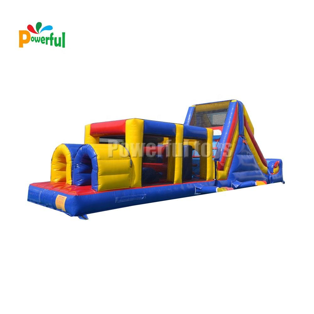High quality PVC inflatable obstacle course races inflatable bouncy castle for kids