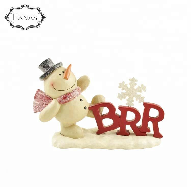 Happy little snowman resin statue in various poses, the best gift