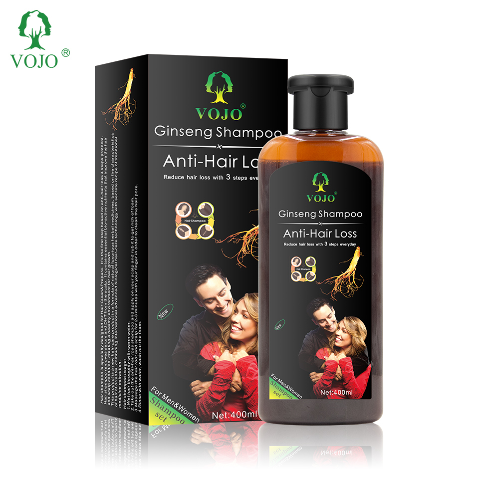 VOJO ginseng Plant Herbal Formula Oil Control Hair ThickeningAnti Hair Loss Hair Growth Shampoo