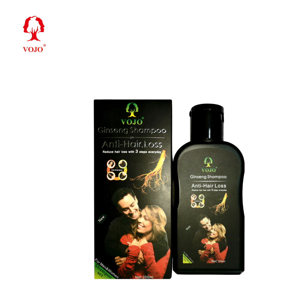 home use vojo Anti Hair Loss herbal organic Ginger essence shampoo for anti hair loss with high quality