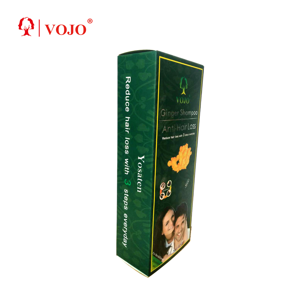 ginger hair growth shampoo Hair Loss essence oil set with GMPC ISO private label from VOJO hair loss shampoo factory