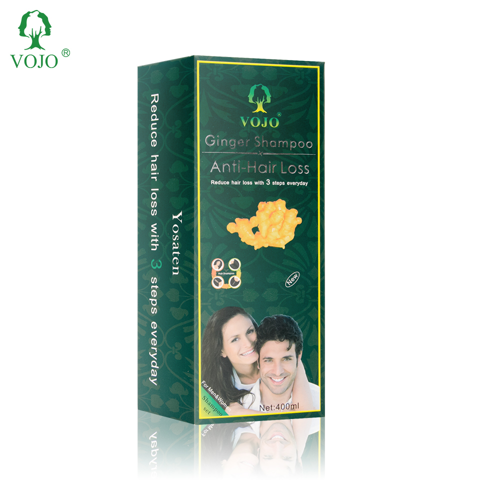 vojo Hair Growth Serum Oil Ginseng Ginger Anti Hair Loss Shampoo Care Treatment accept free sample offer