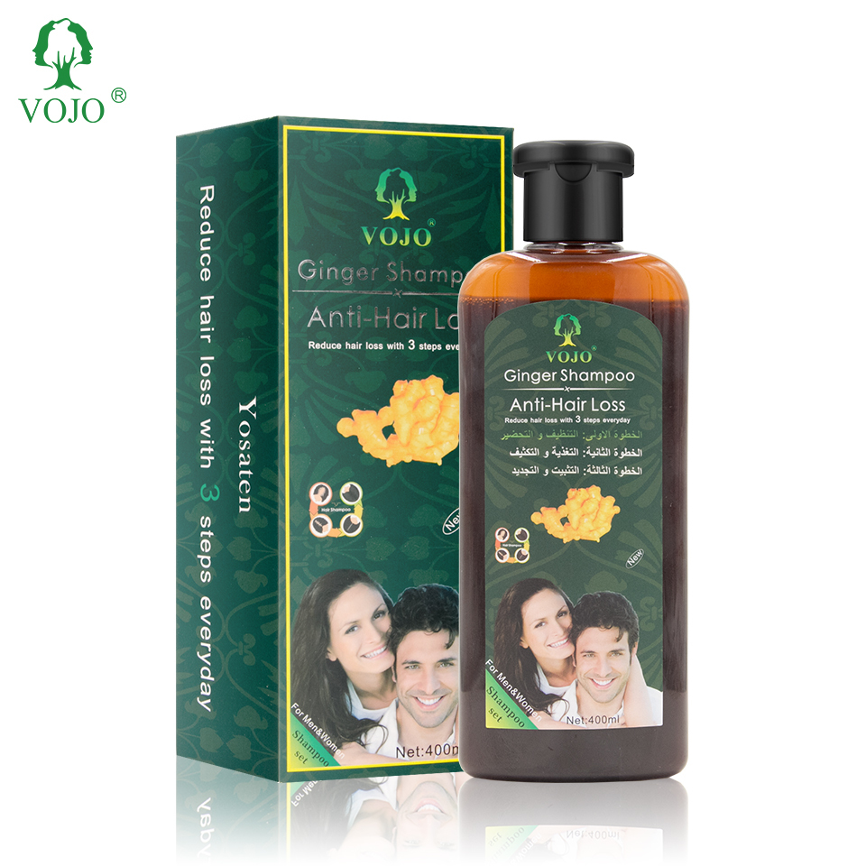VOJO Custom Natural Ginger Germinal Hair Regrowth Treatment Hair Anti Loss Growth Serum Oil For Men Women