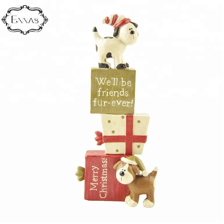 2019 most popular resin cute puppy gift Christmas decorations