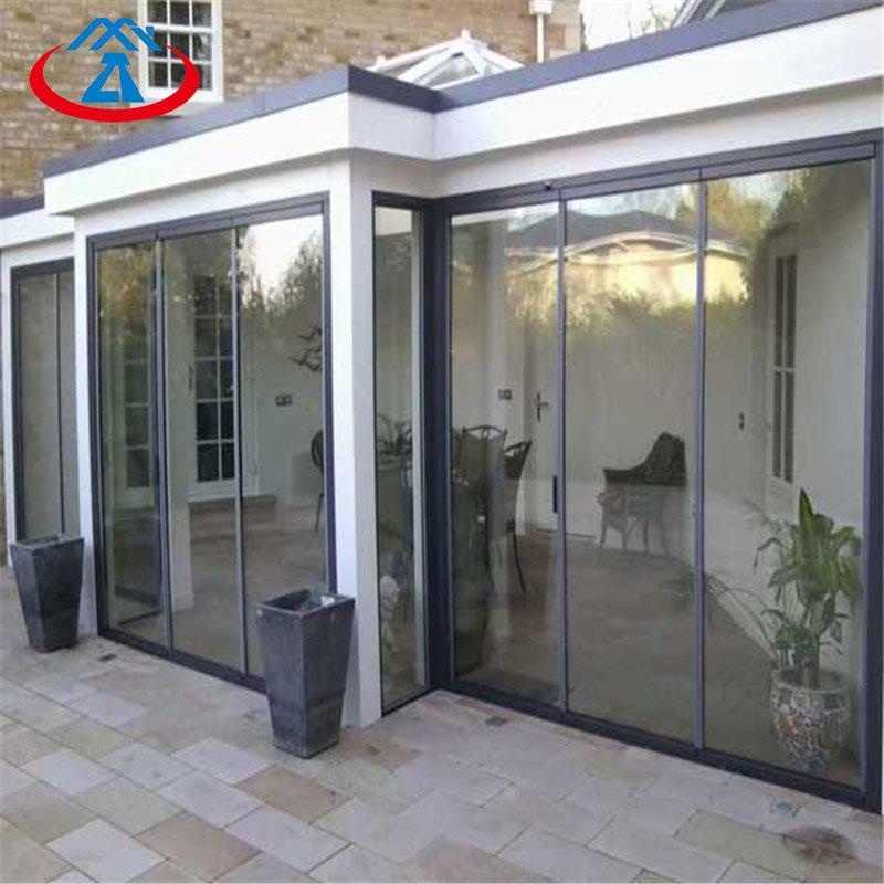 Aluminum Double Tempered Glass Sliding Door For House