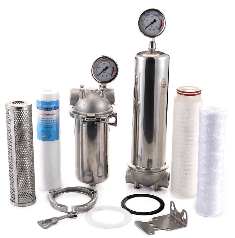 Factory OEM 5 10 2030 40 inch Slim Single PP cartridge Water Filter SS 304 316 Stainless Steel Filter Housing