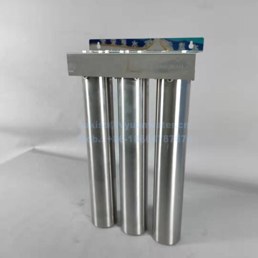 Under Sink Two Three Stage 20 inch housing Water Filter Stainless Steel water purifier housing for purification
