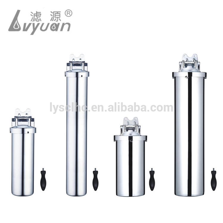 Under Sink Stainless Steel Single Cartridge Clamp Water filter housing for 5