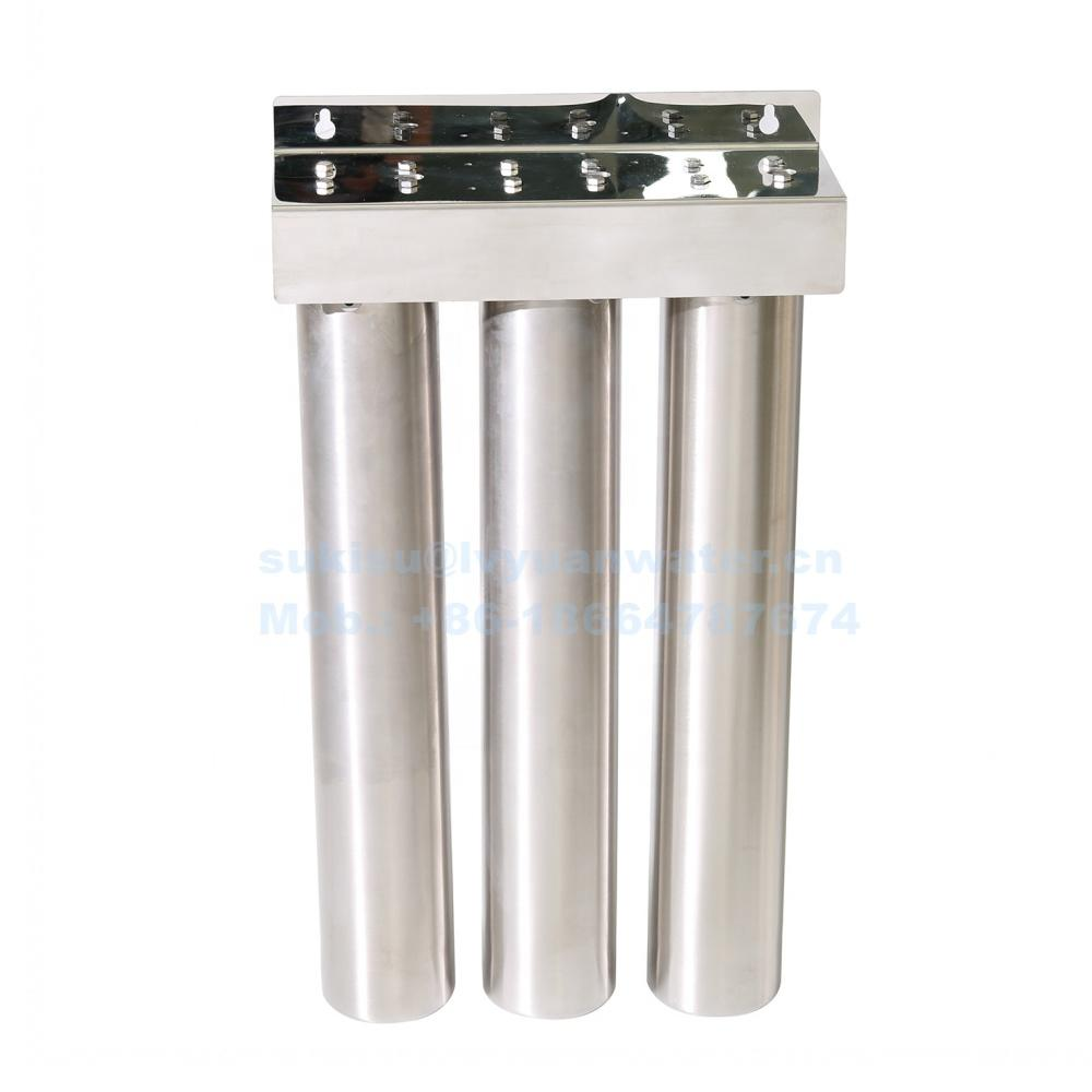 Dual/Triple stages 1 2 3 stage Water filter Stainless Steel Housing 10 20 inch for home water purifier