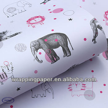 Cartoon wrapping paper waterproof style