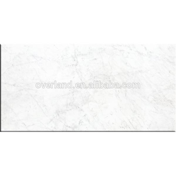 Carrara bianco porcelain tiles