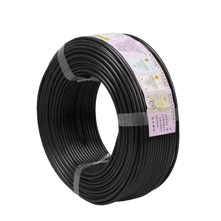 PVC Insulated Electric Flexible Copper Cable RVV 3x1mm 3 core 4 corePVC Coated stranded Copper Wire and Cables Electrics