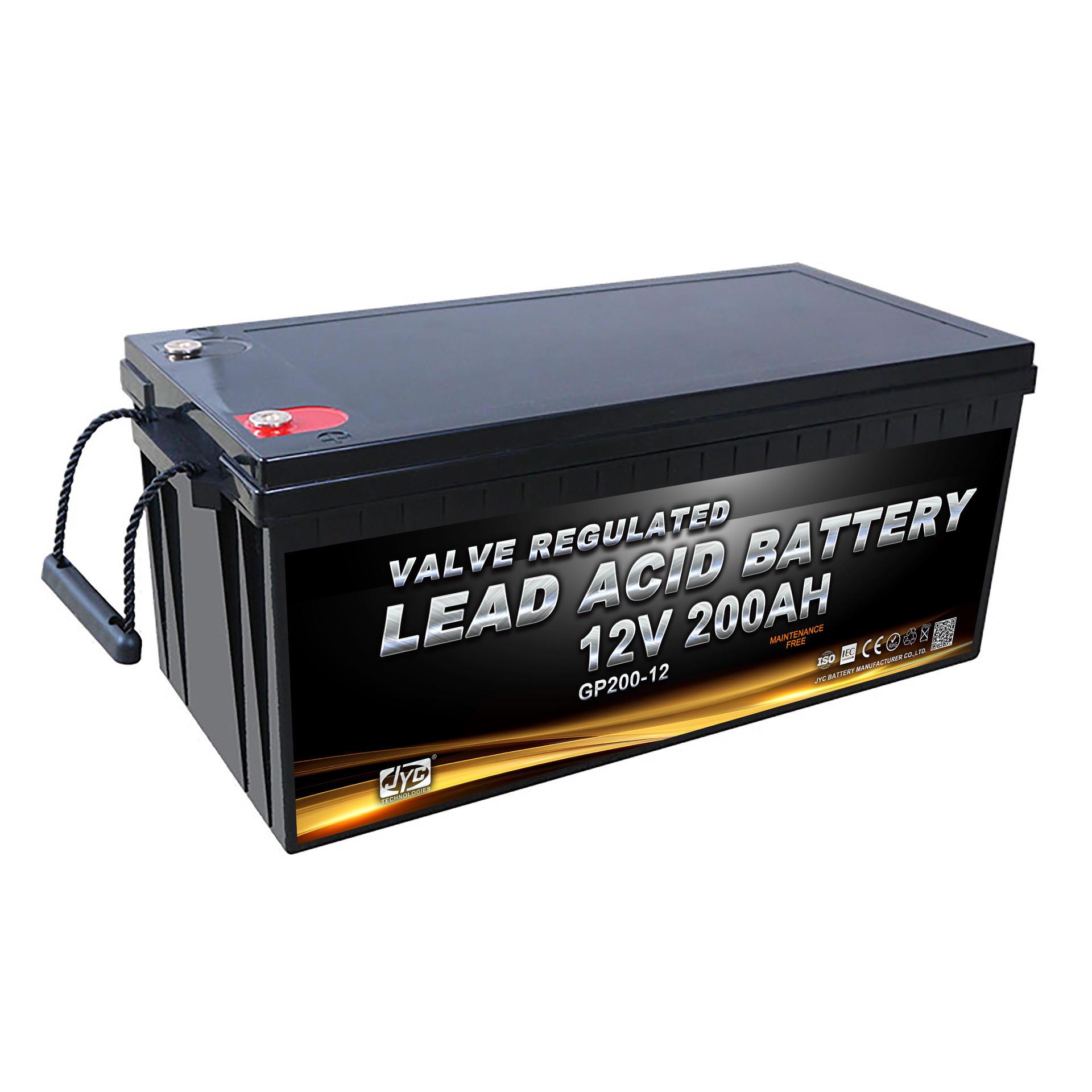 JYC alibaba old supplier 12v 200ah lead crystal battery for solar