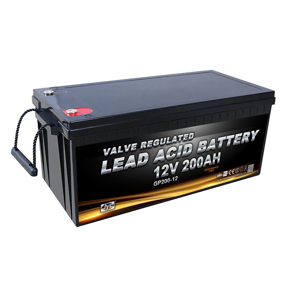 Guangdong supplier jyc agm deep cycle battery 12v 200ah