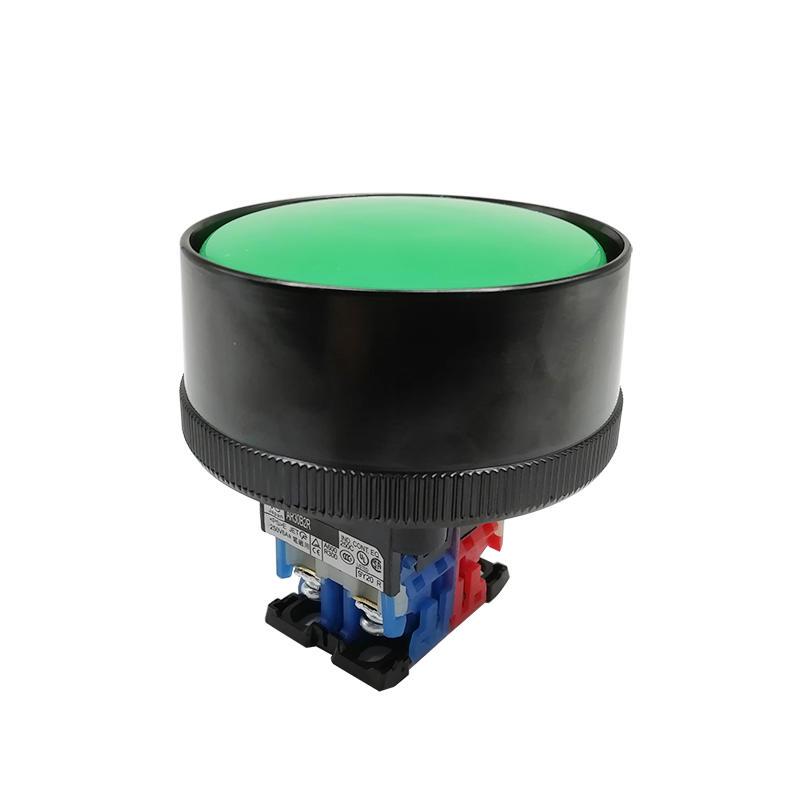 Green AR30B2R Electric Command Switch Plastic Big Head Mushroom Push Button Switch