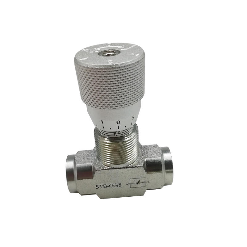 Italy Bidirectional STB Series STB-G1/4 STB-G3/8 STB-G1 Hydraulic Carbon Steel Flow Control Valve