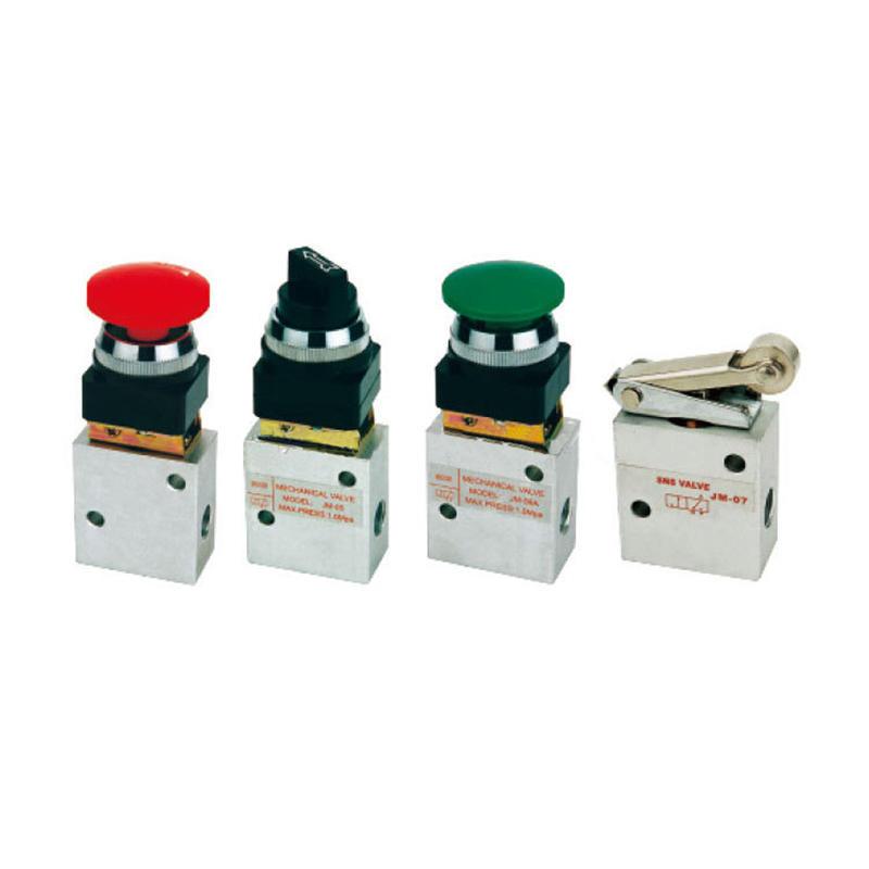 JM Series Aluminium Slivery Push Button Environment Friendly JM322 JM322PP Mechanical Valve