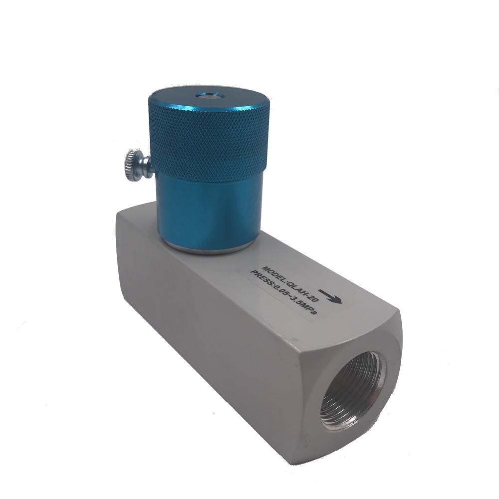 New Engineering Materials Aluminum Alloy QLAH-20G3/4High pressure one-way throttle valve
