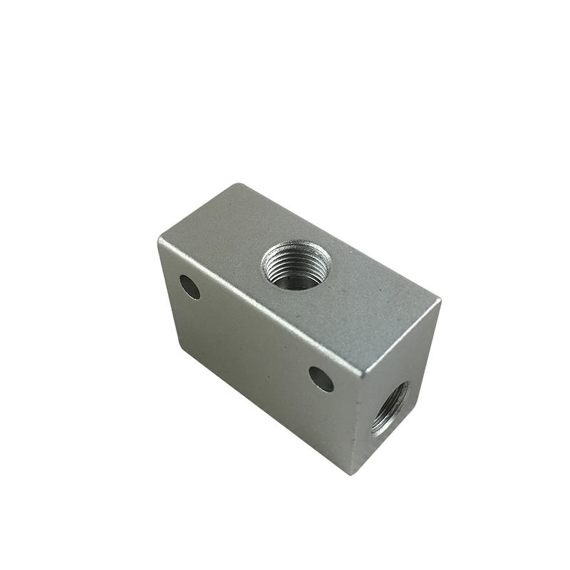 Slivery Aluminum Alloy Shuttle Valve Environment Friendly ST-01 ST-02 ST-06 Pneumatic Air Valve