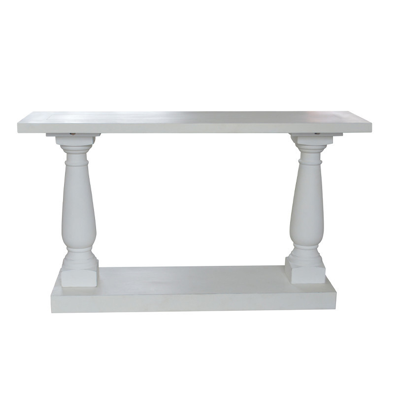 French style Balustrades Unique Console Table