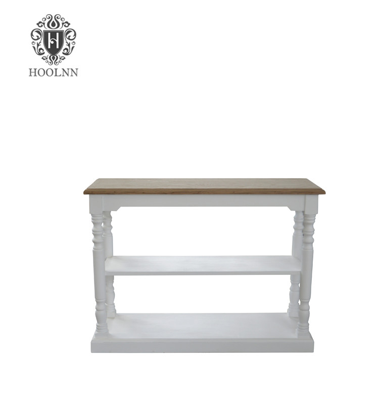 HL372 French Antique Country Painted Oak Console Table Bar Coffee Table furniture