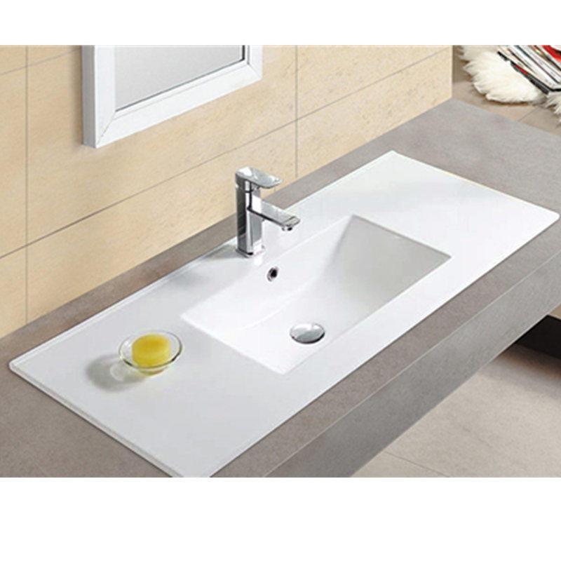 Bathroom modern design thin sink square cabinet basin