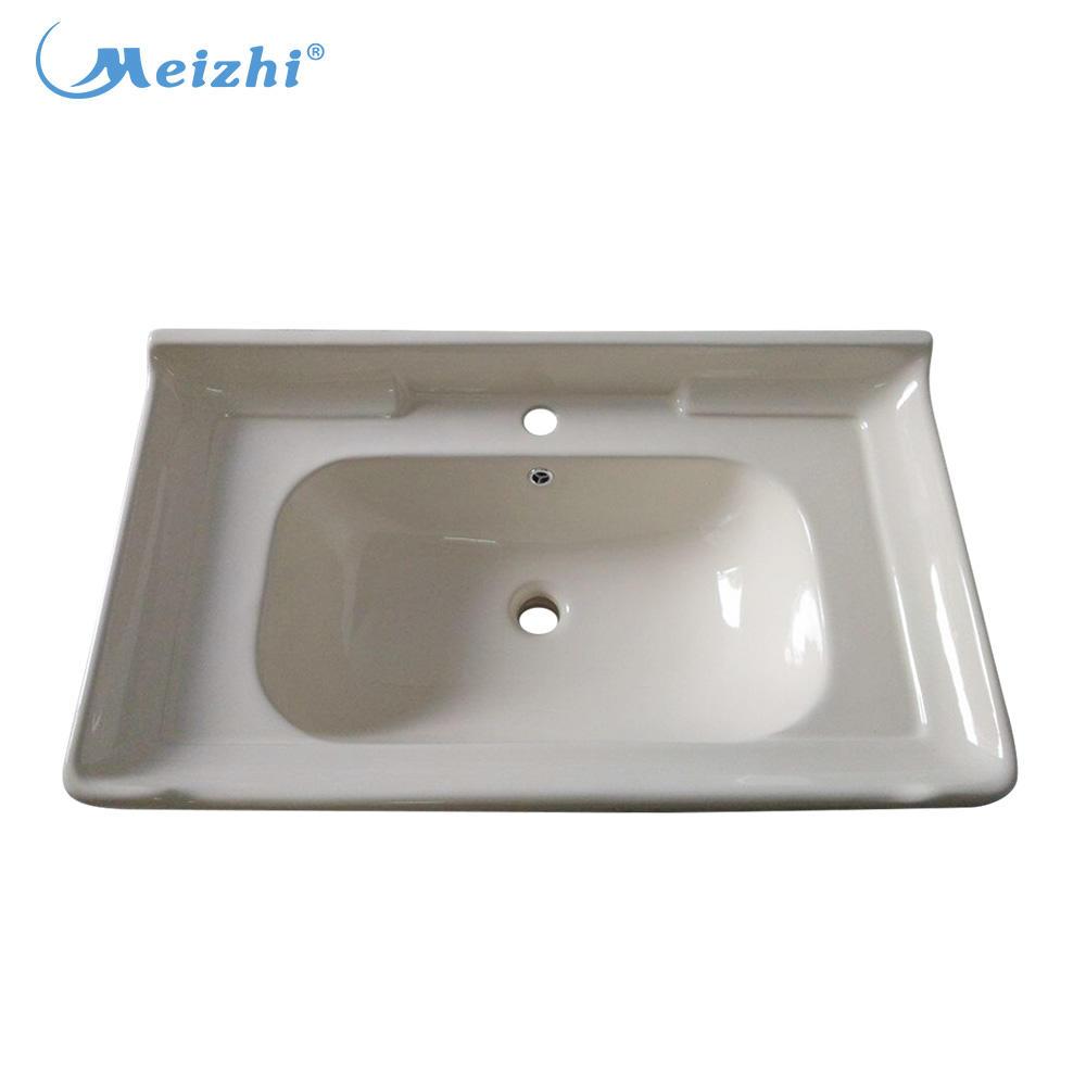 Ceramic sanitary bathroom ivory color wash basin