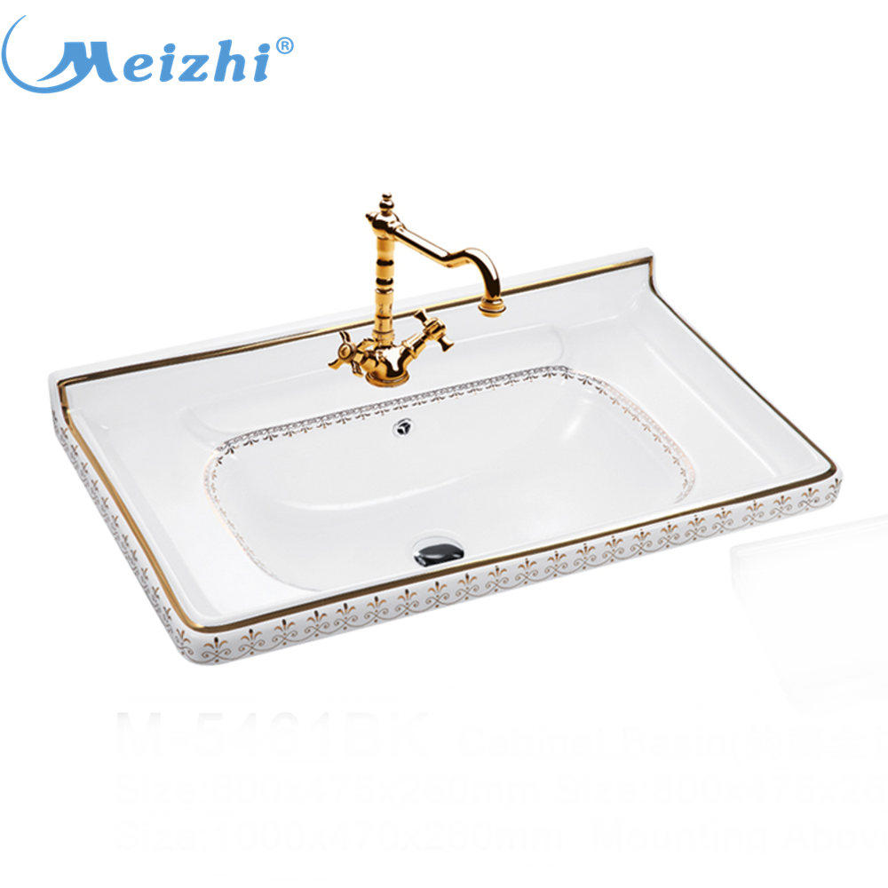Hotel bathroom ceramic vanity wash basin korea