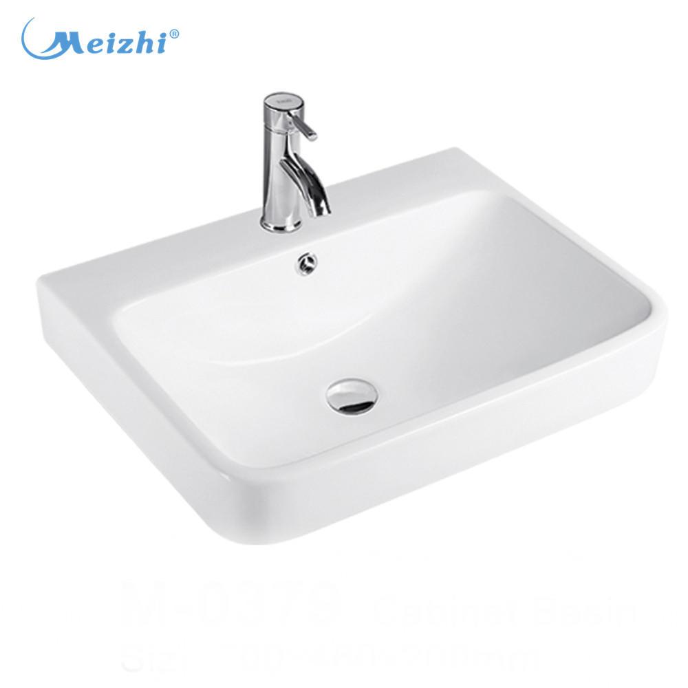Sanitary ware white bathroom art cabinet basin