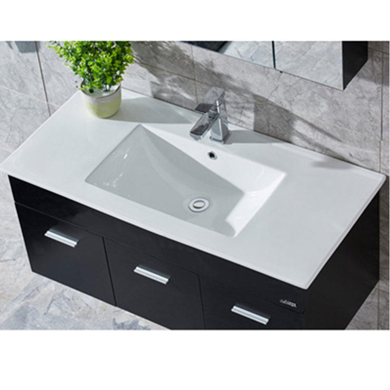 Modern kitchen cabinets counter top basin