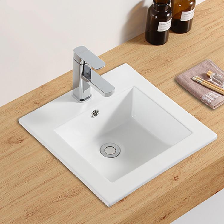Bathroom small square classic cabinet wash basin