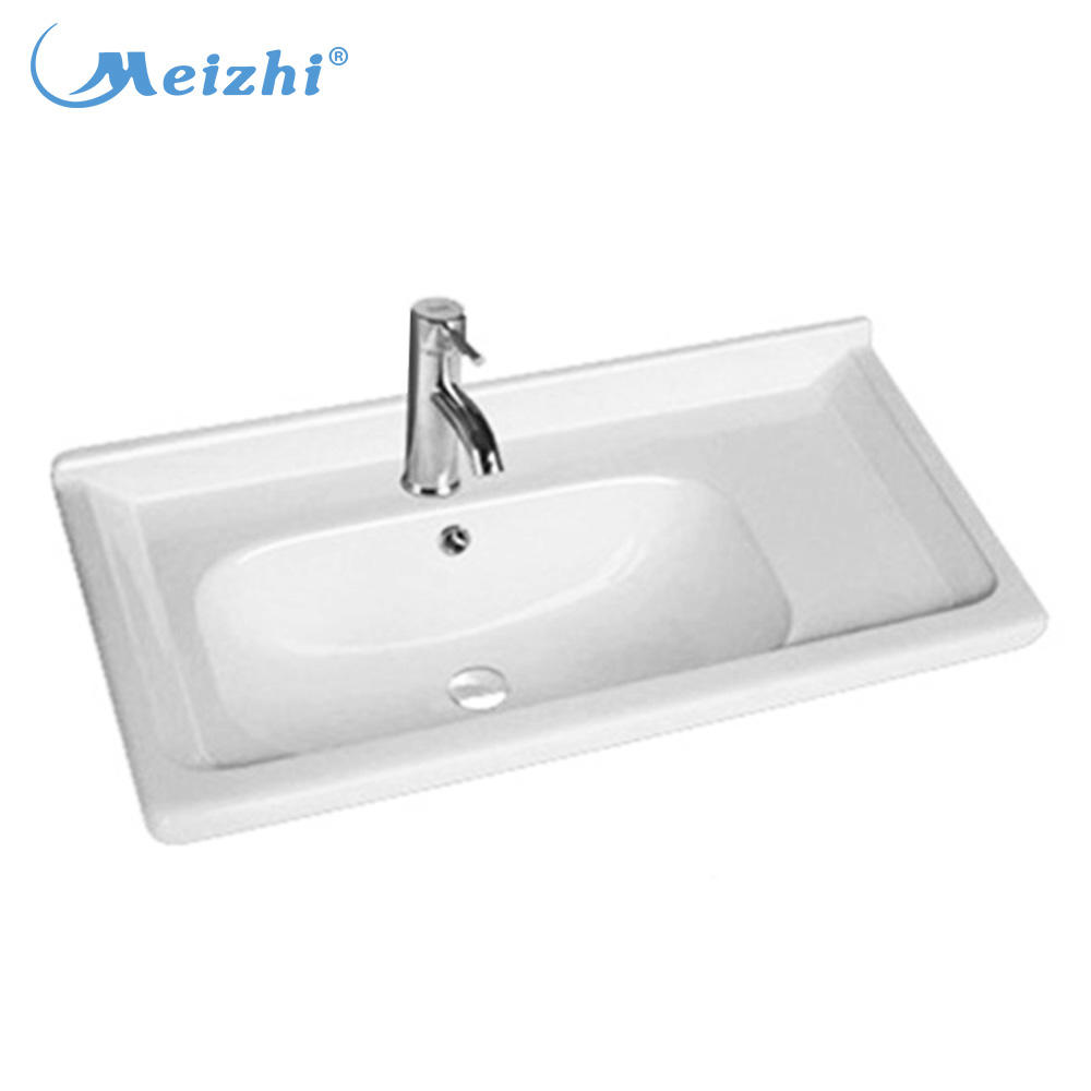 Sanitary ware ceramic long narrow bathroom sink