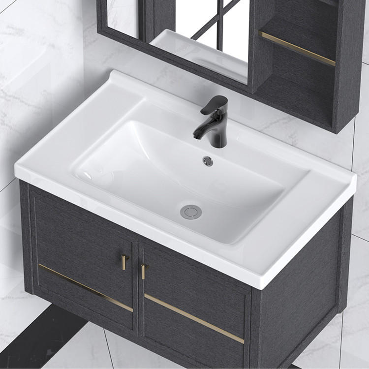 Modern cabinet countertop rectangular lavabo wash handbathroom sink basin