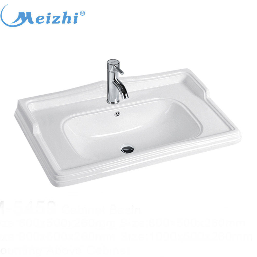 Bathroom ceramic european cabinet stylish wash basin in living room