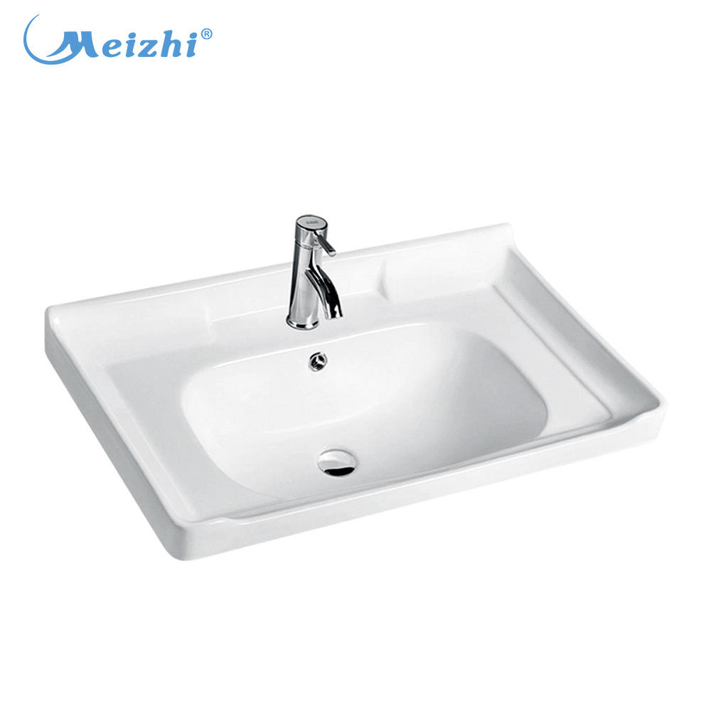 Bathroom ceramic molded wash sink countertop vanity basin price