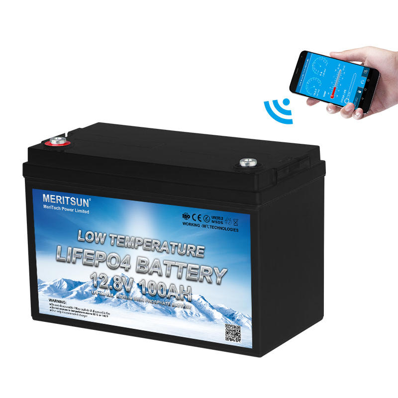 Smart temperature control 12V 100ah lithium ion battery for outdoor winter activities with Bluetooth