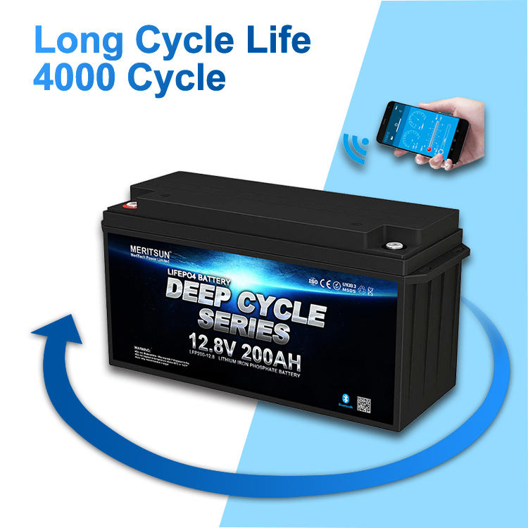 12V 200Ah Rechargeable Solar Lithium Ion Phosphate Pack Deep Cycle LiFePO4 12v 200ah Battery With Bluetooth